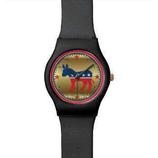 Reloj de oro del burro de la elección del fiesta d