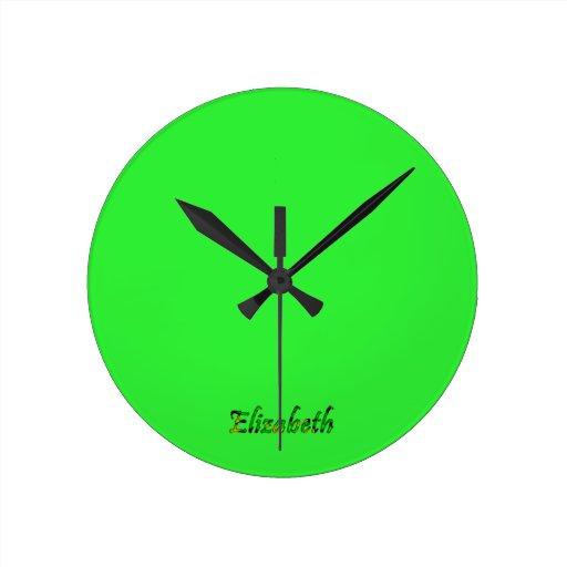 Reloj de pared a todo color de Elizabeth para la