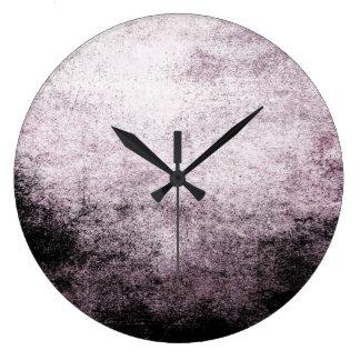 Reloj de pared abstracto blanco negro del vintage