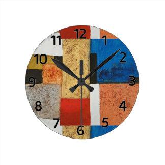 Reloj de pared abstracto de desciframiento de