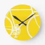 Reloj de pared abstracto de la bicicleta