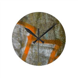 Reloj de pared abstracto de la pintada
