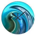 Reloj de pared abstracto del Seahorse