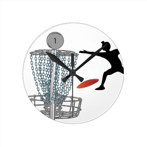 Reloj de pared adaptable del tiro del golf del dis