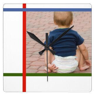 reloj de pared adaptable mondrian del bebé del blo