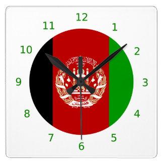 Reloj de pared afgano de la bandera