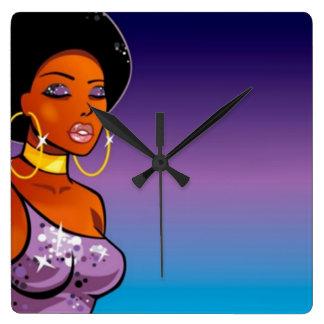 reloj de pared Afro-céntrico