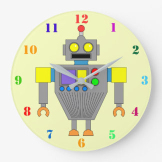 Reloj de pared (AMARILLO) COLORIDO de los niños