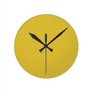 Reloj de pared amarillo del Freesia