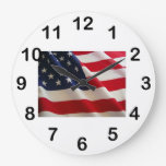 Reloj de pared americano Flag2