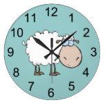 Reloj de pared animal de las ovejas del bebé