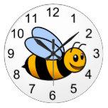 Reloj de pared animal del abejorro