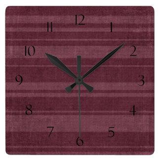 Reloj de pared apenado del modelo de la raya