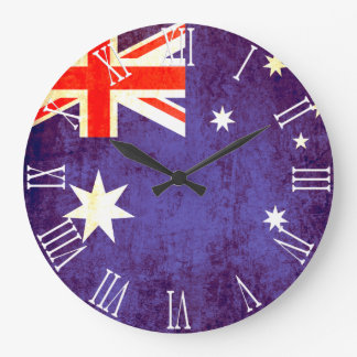 Reloj de pared australiano patriótico del número r