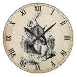 Reloj de pared blanco antiguo del número romano de