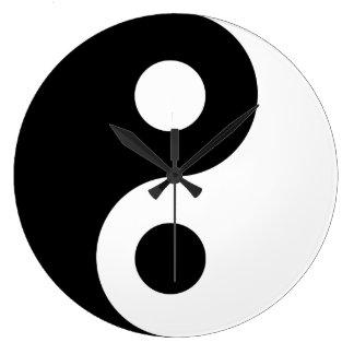 Reloj de pared blanco de Yin Yang