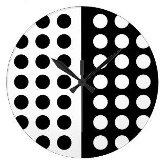 Reloj de pared blanco y negro del lunar