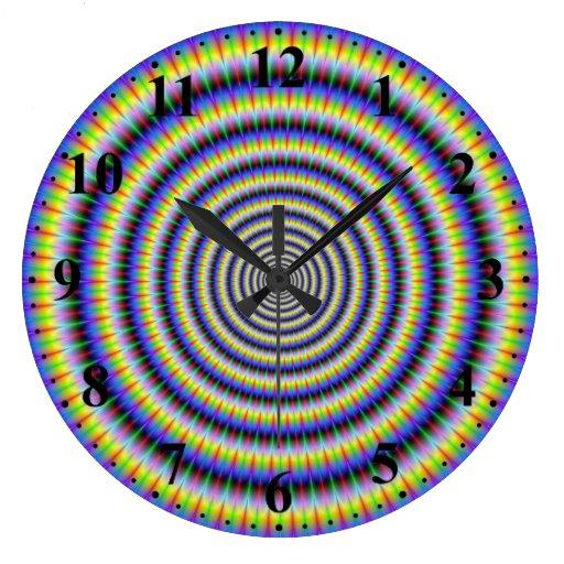 Reloj de pared Boggling de los círculos del ojo