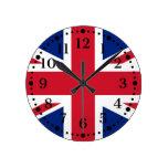 Reloj de pared británico de Union Jack