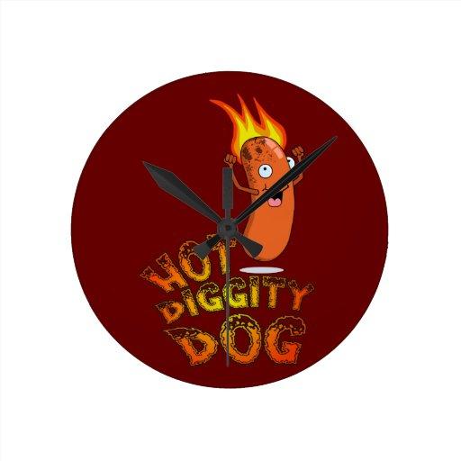 Reloj de pared caliente del perro de Diggity