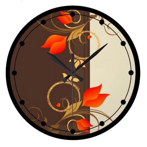 Reloj de pared caprichoso de las flores