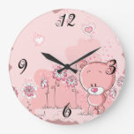 Reloj de pared caprichoso del oso