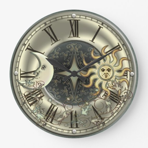 Reloj de pared celestial de Sun y de la luna