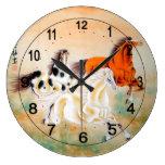 Reloj de pared china del vintage con adorno del ca