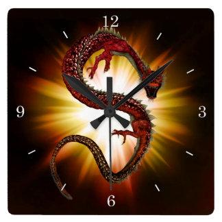 Reloj de pared chino del dragón