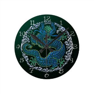 Reloj de pared chino del ornamento del dragón