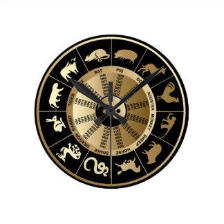 Reloj de pared chino del zodiaco