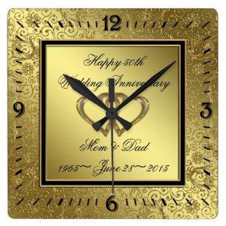 Reloj de pared clásico del aniversario de boda de