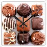 Reloj de pared clasificado de los chocolates