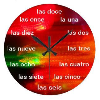 Reloj de pared - Colores de México Large Clock