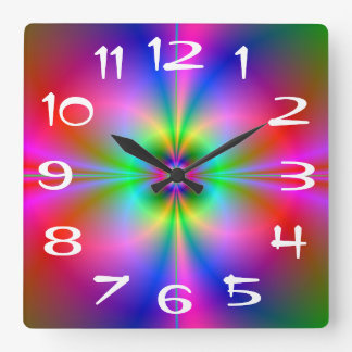 Reloj de pared colorido de la magnetosfera