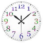 Reloj de pared colorido de los números