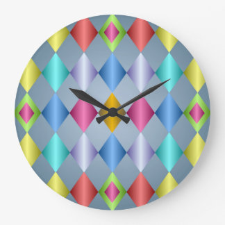 Reloj de pared colorido del golpeteo del diamante