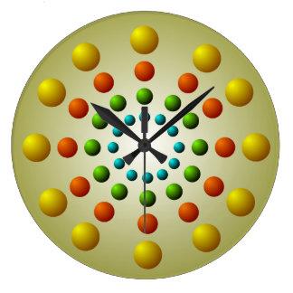 Reloj de pared colorido del modelo de la gota de C