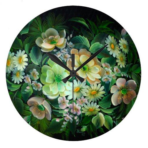 reloj de pared colorido del ramo