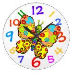 Reloj de pared colorido del sitio de Childs de la