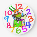 Reloj de pared colorido del sitio de los niños