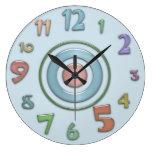 Reloj de pared colorido loco