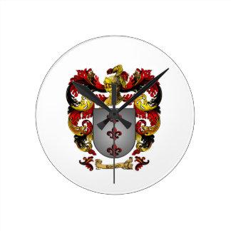 Reloj de pared con clase del escudo de armas de Ro