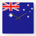 Reloj de pared con la bandera de Australia
