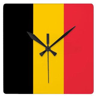 Reloj de pared con la bandera de Bélgica