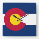 Reloj de pared con la bandera de Colorado, los E.E