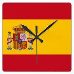 Reloj de pared con la bandera de España