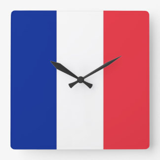 Reloj de pared con la bandera de Francia