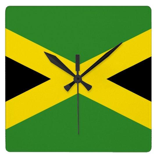Reloj de pared con la bandera de Jamaica