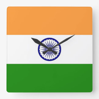Reloj de pared con la bandera de la India